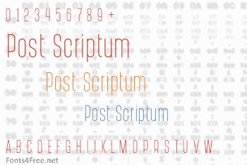 Post Scriptum Font
