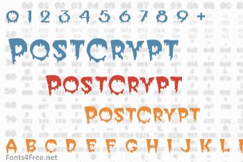 PostCrypt Font