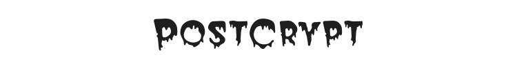 PostCrypt Font Preview