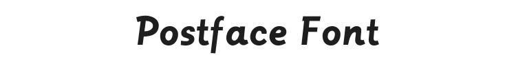 Postface Font