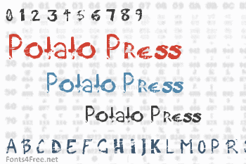 Potato Press Font