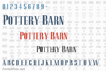 Pottery Barn Font
