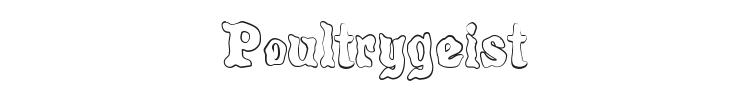 Poultrygeist Font Preview