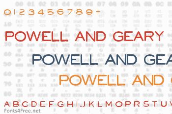 Powell and Geary Font