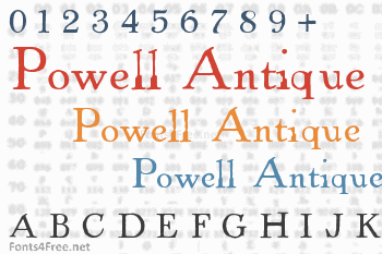 Powell Antique Font