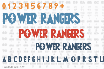 Power Rangers Font