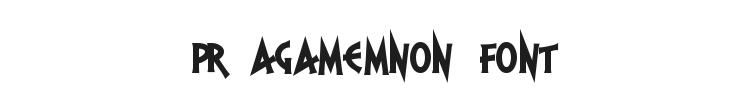 PR Agamemnon Font Preview