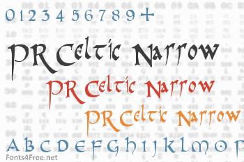 PR Celtic Narrow Font
