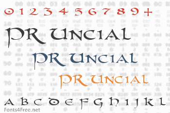 PR Uncial Font