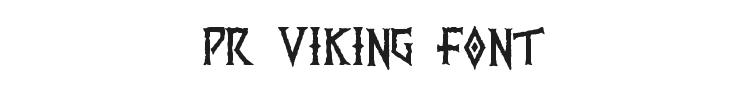 PR Viking Font Preview