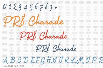 PR8 Charade Font