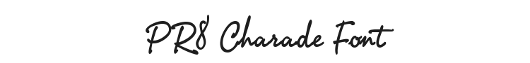 PR8 Charade Font Preview