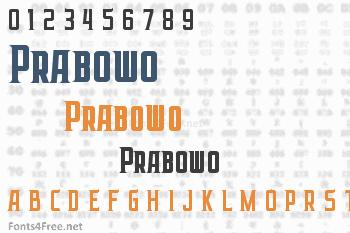 Prabowo Font