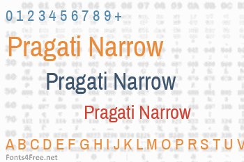 Pragati Narrow Font