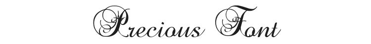 Precious Font Preview