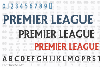 Premier League Font