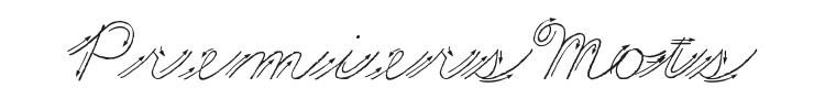 Premiers Mots Script Font Preview