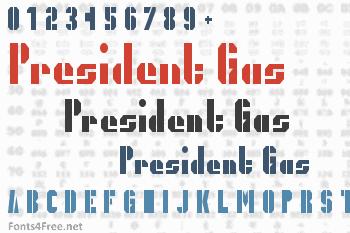 President Gas Font