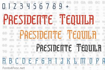 Presidente Tequila Font