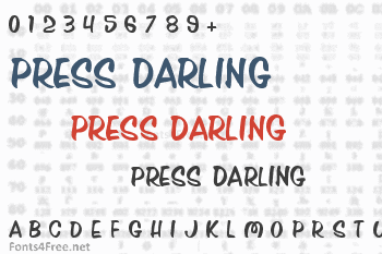 Press Darling Font