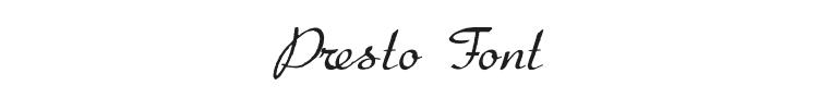 Presto Font Preview