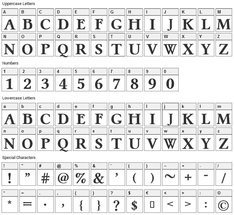 Pretzel Font Character Map