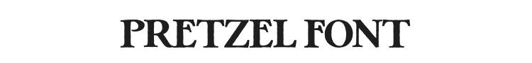 Pretzel Font Preview