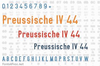 Preussische IV 44 Ausgabe 3 Font