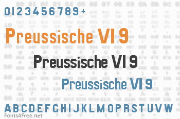 Preussische VI 9 Font