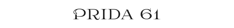 Prida 61 Font Preview