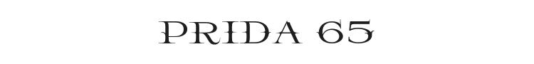 Prida 65 Font Preview