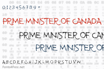 Prime Minister of Canada Font