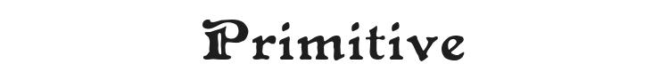 Primitive Font