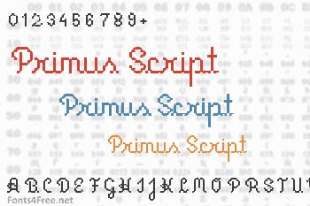 Primus Script Font