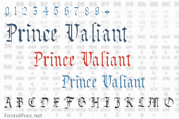 Prince Valiant Font