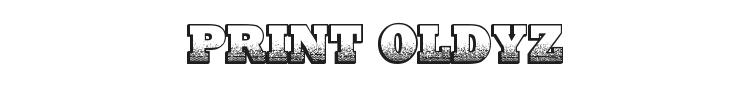 Print Oldyz Font
