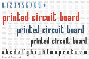 Printed Circuit Board Font