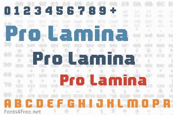 Pro Lamina Font