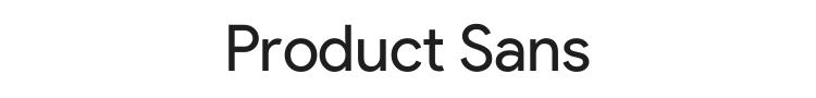 Product Sans Font Preview