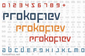 Prokofiev Font