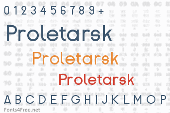 Proletarsk Font
