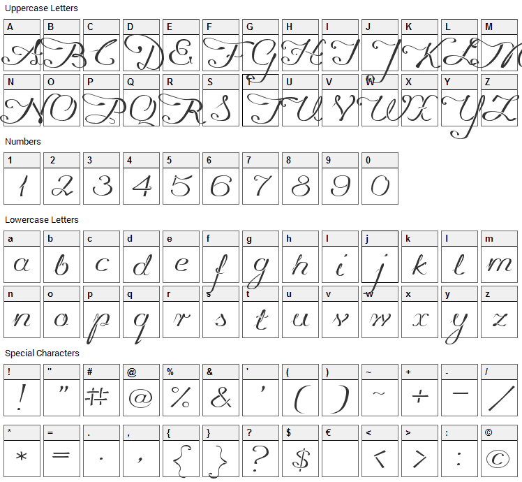 Promocyja Font Character Map