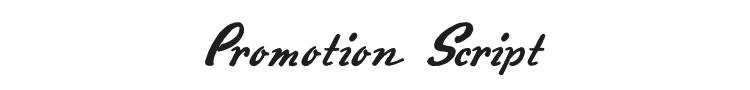 Promotion Script Font Preview