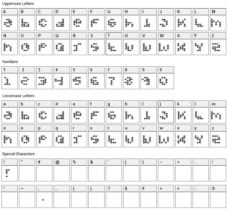 Propeller Fuel Font Character Map