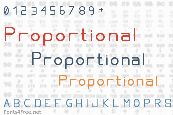 Proportional Font