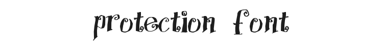 Protection Font Preview