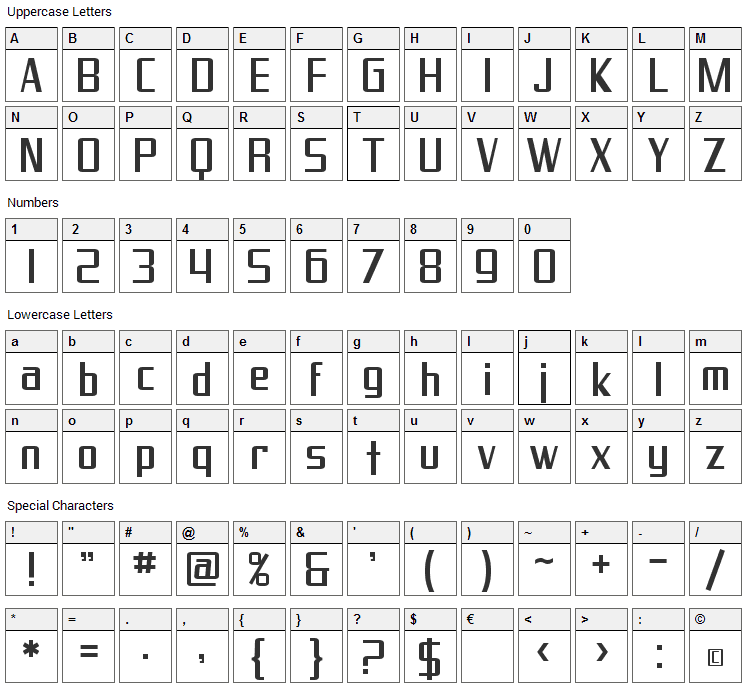 Proverbial Gothic Font Character Map