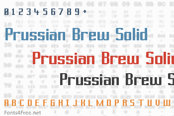 Prussian Brew Solid Font