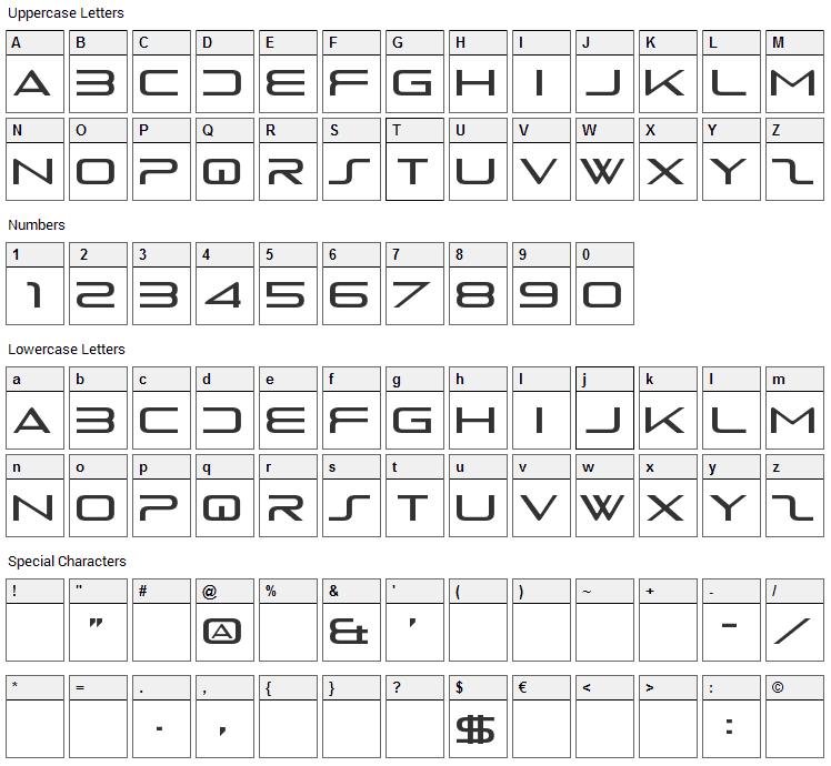 PS4 Logo Font Character Map