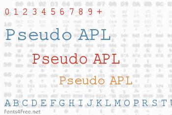Pseudo APL Font